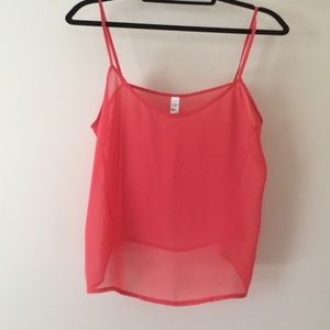 American Apparel Chiffon Tank Top / Coverup (NWOT)
